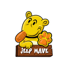 Jeep Wave Eugene The History of CJ7 TJ YJ JK JL Wrangler Sticker