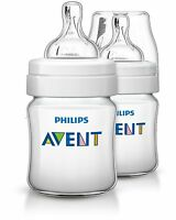 Philips Avent Classic+ Feeding Anti-Colic Baby Bottle 260ml/9oz Twin SCF563/27