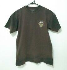Quicksilver Mens T-Shirt Size M Regular Fit Brown Crew Neck Surf Logo Tee