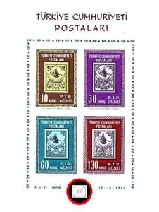 """TURKEY 1963 """"ISTAMBUL-63"""" STAMP SHOW S/s SC#1601 MNH stamp on STAMPS"""