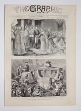 Royal Wedding In Spain Church Of The Atocha Madrid Vintage 1879 Print