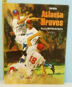 1968 Atlanta Braves Illustrated Baseball Yearbook Double Play Cover