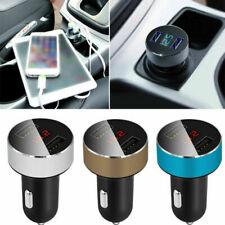 Dual USB Mechero Cargador Coche Doble 3.1A LCD Movil Teléfonos 12/24V MP3 GPS