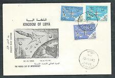 1965 LIBIA FDC GIORNATA METEOROLOGICA NO TIMBRO ARRIVO - F