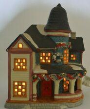 Vintage 1996 Noma Christmas Village House Lighted Round Balcony Garland