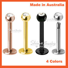 Titanium Steel Helix Tragus Ear Earring Lip Crystal Ball Bar Stud Body Piercing
