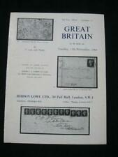 ROBSON LOWE AUCTION CATALOGUE 1964 GREAT BRITAIN  'COHEN' COLLECTION
