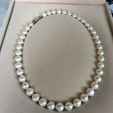 10-11mm Freshwater Pearl Natural White Necklace 45cm AAA+ Luster