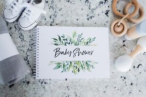 Baby Shower Guest Book with Baby Predictions and Wishes for Baby