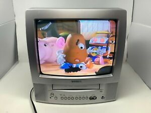 """Toshiba MV13P2 Combo 13"""" CRT Tube TV & VCR w/ A/V Input With Remote Tested WORKS"""