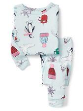 GAP Baby / Toddler Girls Size 4 Years / 4T Polar Bear Winter Snow Pajamas PJ Set