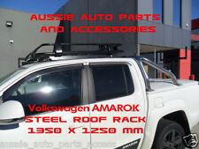 Fully Enclosed Deluxe Steel Roof Rack 1350mm 4 Volkswagen Amarok 2010-18 DualCab