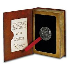 THE GOOD SAMARITAN 2016 2 oz Silver Coin Biblical Series - Scottsdale Mint Niue