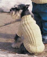 Cable & Hearts Dog Coat Knitting Pattern (5 Sizes) BARGAIN PRICE