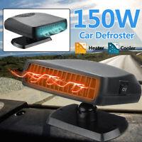 12V Portatile Auto Riscaldamento Termico Ventola Raffreddamento Sbrinatore Caldo