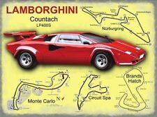 Lamborghini Race Circuits, Supercar, Italian Sports Car Medium Metal/Tin Sign