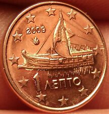 Gem Unc Greece 2009 1 Euro Cent~Ancient Athenian Trireme~Minted In Athens~Fr/Shi