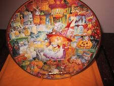 Franklin Mint Scaredy Cats Plate Pre-Owned Never Displayed