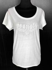 WRANGLER Maglietta Maglia Donna Cotone Bianca Woman Cotton T-Shirt Sz.M - 44