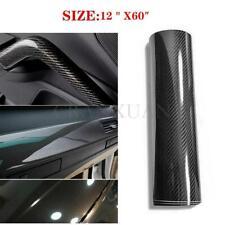 "Car Interior Accessories Panel Black 6D Carbon Fiber Vinyl Wrap Sticker 12""x60"""