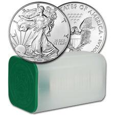 Random Date American Silver Eagle (1 oz) $1 - 1 Roll of 20 BU Coins in Mint Tube