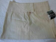 Tracy Evans NWT Beige Textured Wide waistband flat front skirt Juniors Size 13
