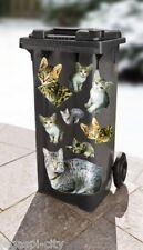 Mülleimeraufkleber mit süßen Katzenmotiven (9 Motive) plus Zahlen und Buchstaben