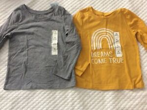 Boys' Size 4T 'Dreams Come True' & Gray Long Sleeve T-Shirt by Cat & Jack-NWT!