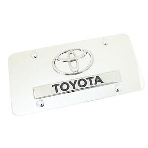 Toyota Dual Logo License Plate (Chrome)