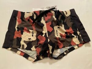 """""""Andrew Christian"""" Size """"XL"""" Camouflage Mesh Jogger Shorts (6598)"""