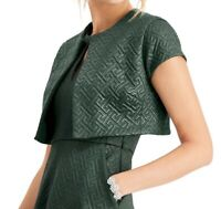N Natori Women's Jacket Midnight Green Size XL Quilted Maze Knit $139 432