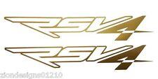 Aprilia RSV4 outline gold matt decals custom graphics stickers  x 2 pieces