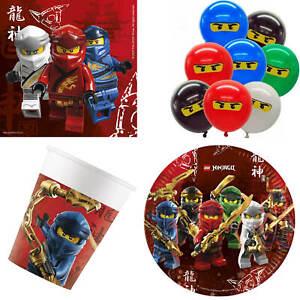 Lego Ninjago Meister des Spinjitzu 44-tlg Teller Becher Servietten Luftballons