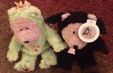 2 Starbucks Bearista Bears From 2004: Kiss Me Frog and Black Sheep