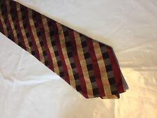 Mens Black Red Gold SILK Tie Necktie VALERIO GARATI~ FREE US SHIP (10922)