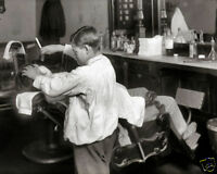 12-YEAR-OLD BARBER 8X10 PHOTO BOSTON BARBERSHOP 1917 LEWIS HINE