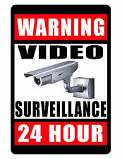 Video Surveillance Sign..business sign..Aluminum..Glossy..No Rust.Custom Signs