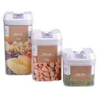 EE_ Rectangular Dry Food Flour Beans Airtight Flip Storage Container Holders Goo