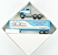 Winross 1987 Stiegel Builders Housing Semi Truck and Trailer 1:64 Scale NIB