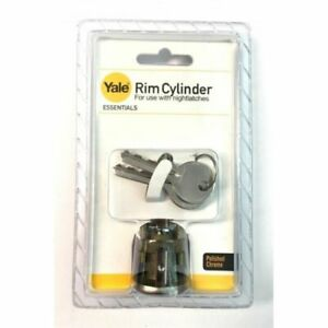Polished CHROME Rim Cylinder night security latch+ 2 KEYS COMPATIBLE WITH YALE