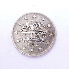 TURQUIE 2 kurush 1909  argent