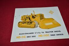 Allis Chalmers HD-11G HD-11GC Crawler Tractor Dealers Brochure YABE14