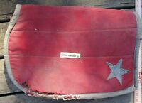Civil War Military (?) Saddle Blanket with Stars on Corners Faded Red and Blue i
