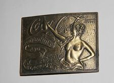 Vintage Brass COCA-COLA Belt Buckle Atl GA Nude Naked Lady coke tiffany foundry