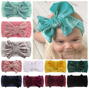 Baby Girls Boy Rabbit Headband Cotton Elastic Bowknot Hair Band Bow-knot Newborn