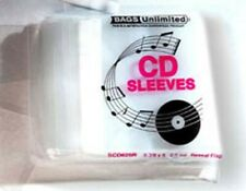 Bags Unlimited SCD425R Poly Resealable CD/Booklet bag-100ct [New Bag/S