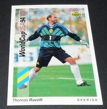THOMAS RAVELLI SVERIGE FOOTBALL CARD UPPER DECK USA 94 PANINI 1994 WM94