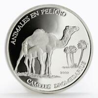 Sahrawi 1000 pesetas Dromedary Camel proof silver coin 2002