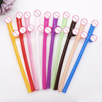 10pc/lot Penis Sipping Straws Sexy Willy Drinking Straw Bachelorette Party Decor