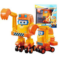Large Super Wings Transforming Robot Airplane Animation Character Kids Toy Gifts